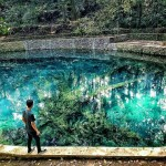 Pemandian Alam Sumber Jenon Malang, Pemandian Alami dengan Air Biru