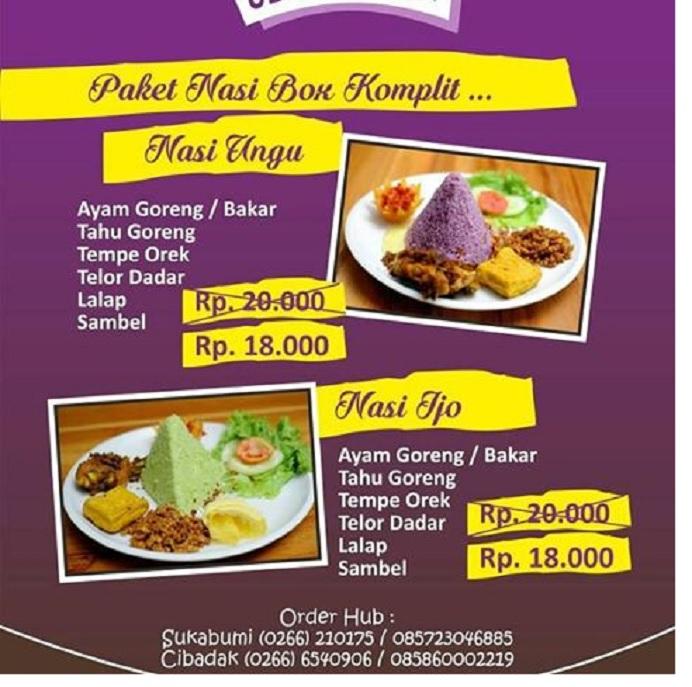 Menu Restoran Mamih Ungu Sukabumi