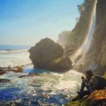 Pantai Umbul Waru Blitar, Pantai Indah dan Memukau Berhiaskan Air Terjun
