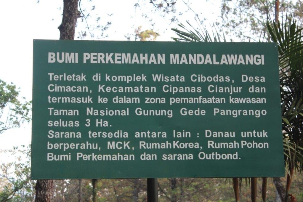 fasilitas Obyek Wisata Wana Wisata Mandalawangi